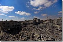 ガザ地区・空爆瓦礫の山2014・9.