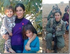 クルド人の母。